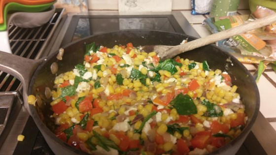 Photo of Spinach Feta Succotash by spaz