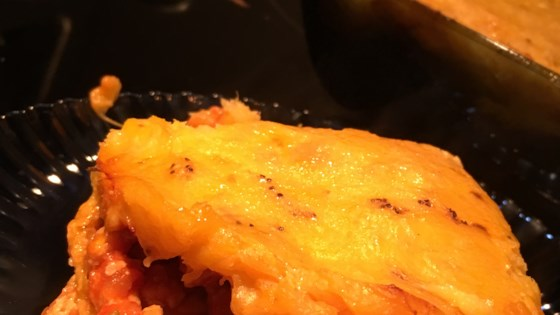 Photo of Pastelon de Platano Maduro (Dominican-Style Yellow Plantain Pie) by Mirelly