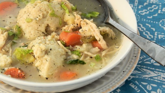 Photo of Bubbie's Hearty Matzo Ball Soup by becky