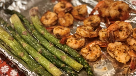Photo of Sheet Pan Lemon Butter Garlic Shrimp with Asparagus by Fioa
