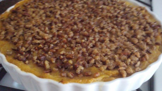Photo of Squash Casserole with Crunchy Pecan Topping by Lana