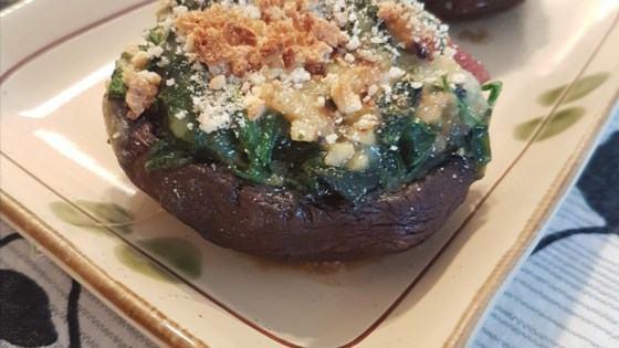 Photo of Spinach Stuffed Portobello Mushrooms by jen22