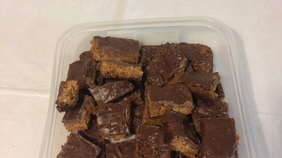 Chocolate Frosted Toffee Bars