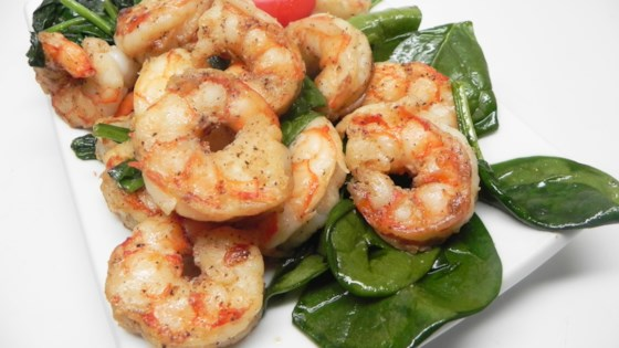 Photo of Sauteed Shrimp with Spinach by adrian