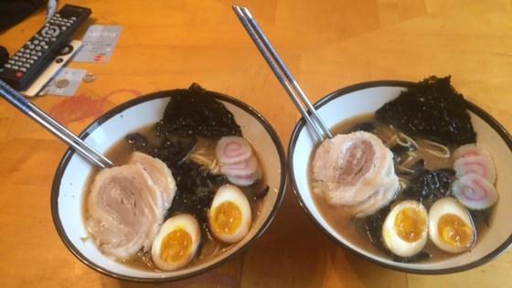 Photo of Restaurant-Style Shoyu Miso Ramen by Maya Papaya Zimmerman