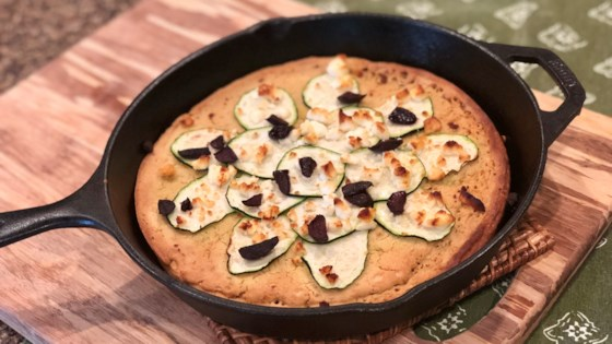 Feta and Zucchini Farinata Pizza (Gluten-Free Italian Flatbread)