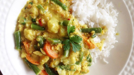 Vegan indian curry with cauliflower and lentils recipe allrecipes photo of vegan indian curry with cauliflower and lentils by maggie pannell forumfinder Images