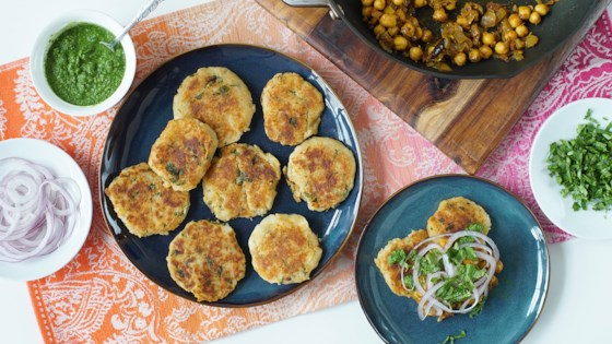 Indian Chole Aloo Tikki