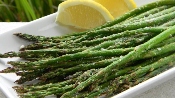 Photo of Grilled Lemon Parmesan Asparagus by Mindy Neugebauer