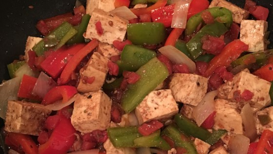 Tofu with Tomatoes and Balsamic Vinegar