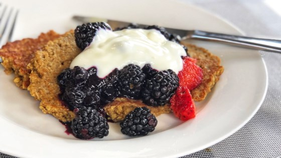 Photo of Flourless Oatmeal Blueberry Pancakes by HJWilson
