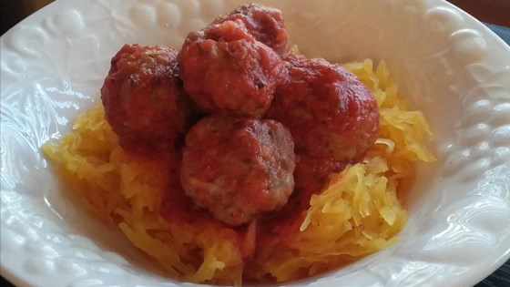 Photo of Whole30 Squashgetti and Meatballs  by Biondini