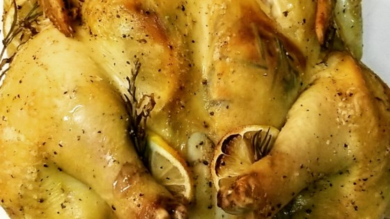 Photo of Lemon-Rosemary Spatchcocked Chicken by Issaarnold