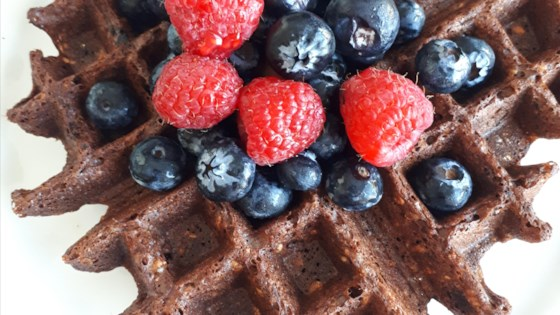 Photo of Best Vegan Chocolate Oatmeal Waffles by JW