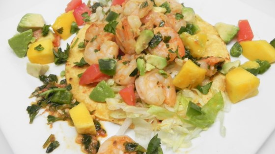 Photo of Lime Shrimp Tacos with Mango Salsa by Halla Farhat