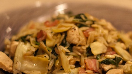 Photo of Orzo with Chicken and Artichokes by Senoritapupnstuff