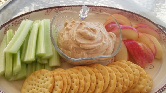 Photo of Spiced Peanut Butter Yogurt Dip by Mandi