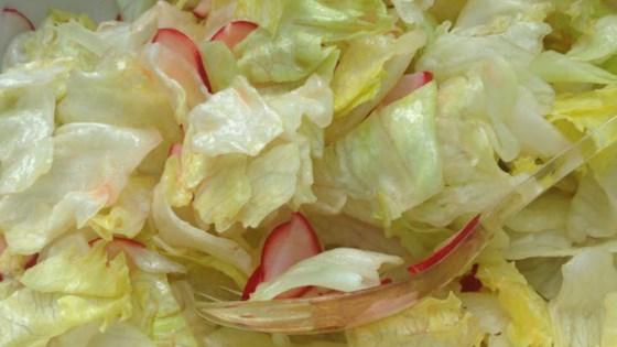 Iceberg Lettuce Salad with Radishes