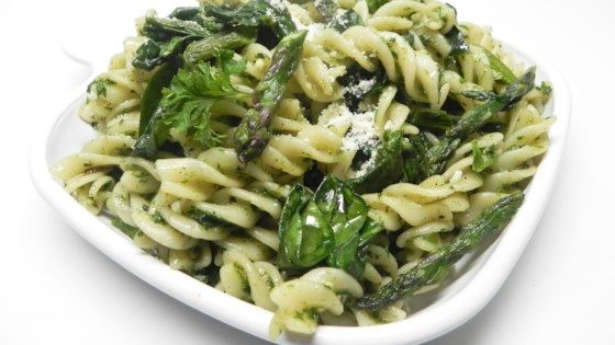 Photo of Italian Vegetable Fusilli with Basil Mint Pesto by Cindy Anschutz Barbieri