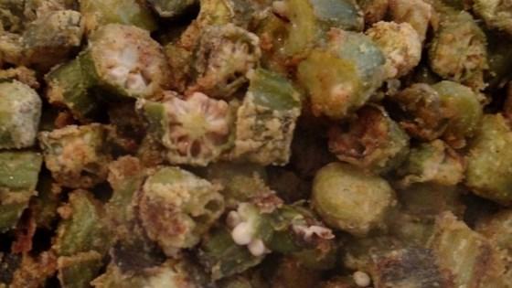 Photo of Zesty Baked Gluten-Free, Corn-Free Okra by Tanja Rouintree