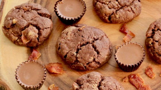 Photo of Chocolate, Peanut Butter, and Bacon Cookies by Krissy