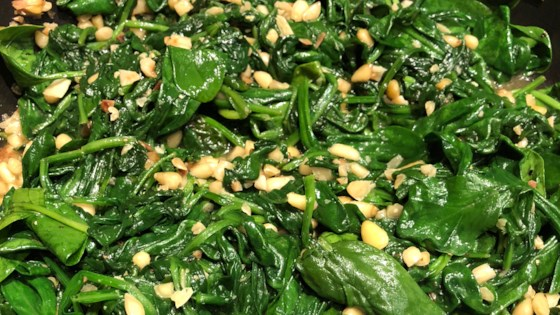Photo of Spinach and Pine Nuts by Robyn Webb