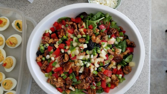 Photo of Spinach Salad with Apple, Honey-Roasted Walnuts, and Blackberry Vinaigrette  by KOHL