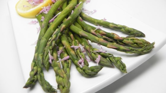 Photo of Mena's Simple Steamed Asparagus by Malina Bleeding Heart Morris