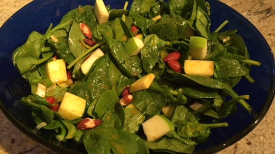 Photo of Green Apple Curried Spinach Salad by PTRICK