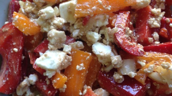 Photo of Easy Red Bell Pepper and Feta Salad by Christine
