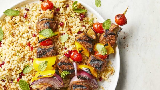 Photo of Beef Kebabs with Pomegranate Couscous by Betty Soup