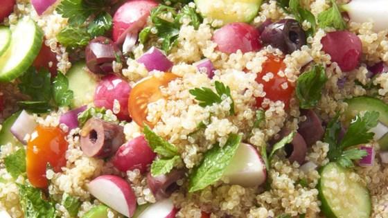 Photo of Vegan Mediterranean Quinoa Salad by cchristi4