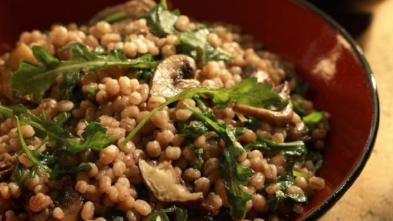 Barley and Mushrooms with Balsamic Vinegar
