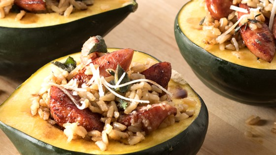 Photo of Hillshire Farm® Smoked Sausage and Squash Boats by Hillshire Farm® Brand