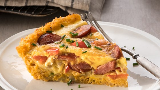 Photo of Cauliflower-Crusted Quiche with Hillshire Farm® Smoked Sausage by Hillshire Farm® Brand