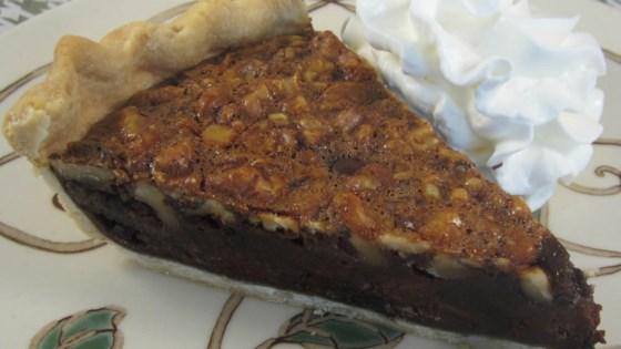 Velvety Walnut Fudge Pie