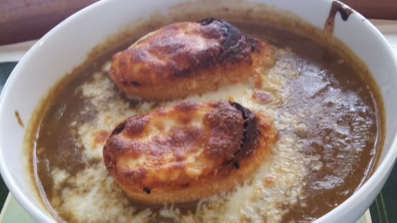 Photo of French Onion Soup with Homemade Beef Stock by Lolobug