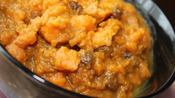 Moroccan Sweet Potato and Raisin Salad