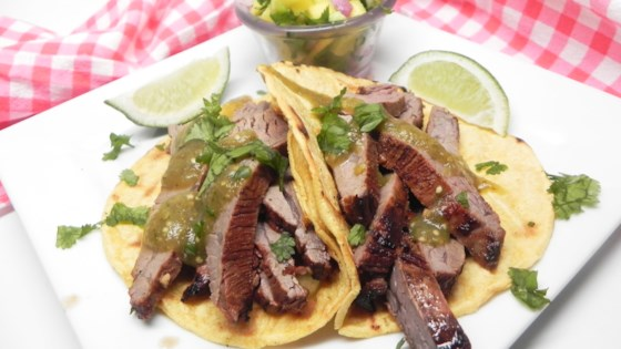 Photo of Flank Steak Tacos with Mango-Avocado Salsa by Chef Mikey