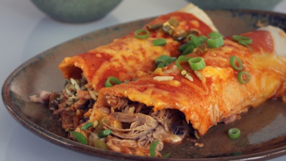 Photo of Tequila Slow-Cooked Beef Enchiladas by Victoria Danielle