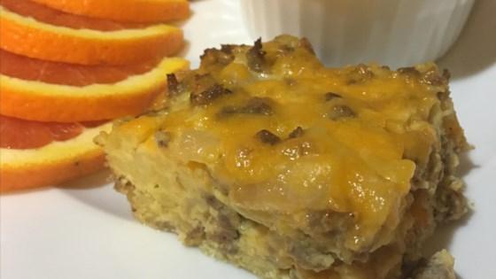 Photo of Cheesy Sausage and Potato Breakfast Casserole by MATTOON250