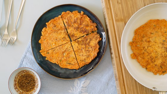 Photo of Kimchi Jun (Kimchi Pancake) and Dipping Sauce by Adine Lee