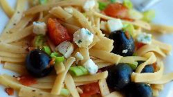 Photo of Fettuccine with Tomatoes, Olives, and Goat Cheese by nt_bella