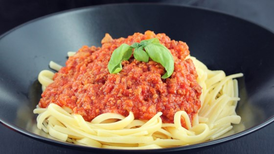 Photo of Instant Pot® Tomato and Beef Sauce by Bren
