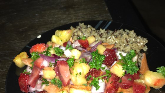 Photo of Grilled Hawaiian Salmon with Strawberry Pineapple Salsa by KelleyBee