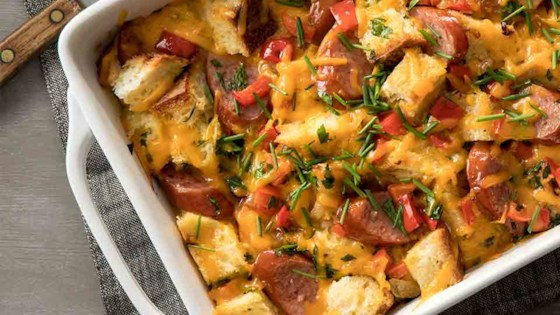 Photo of Hillshire Farm® Smoked Sausage and Cheddar Overnight Bread Pudding by Hillshire Farm® Brand
