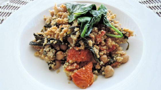 Photo of Curried Couscous with Spinach and Chickpeas by justine