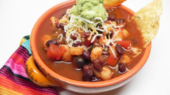 Photo of Hearty Vegetarian Enchilada Soup by Jenna Branson