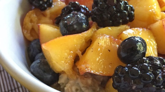 Photo of Vegan Overnight Oats with Chia Seeds and Fruit by Jet