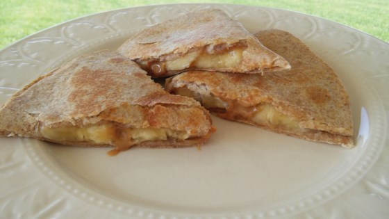 peanut butter banana quesadilla review by collegechef08